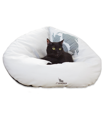 EMI white Cat Bed