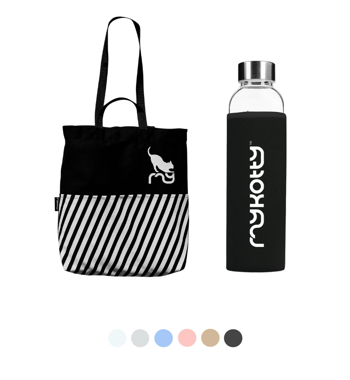 SET TOTEBAG + BOTTLE